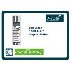 Pica BIG DRY Graphit-Minen-Etui FOR ALL / WEISS