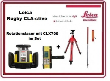 Leica Rugby CLA-ctive Rotationslaser mit CLX700 inkl. Combo im Set