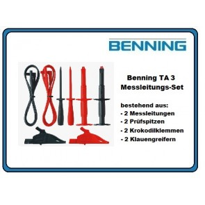 Benning TA 3 Messleitungs-Set 8tlg.