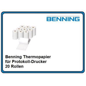 Benning Thermopapier für Protokoll-Drucker 20 Rollen