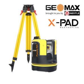 Geomax ZOOM 3D Laser-Aufmass-System Robotic-Set mit Holzstativ