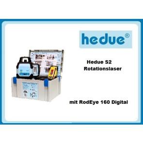 Hedue S2 Rotationslaser mit RodEye 160 Digital