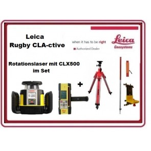 Leica Rugby CLA-ctive Rotationslaser mit CLX500 inkl. Combo & SmartAdapter im Set