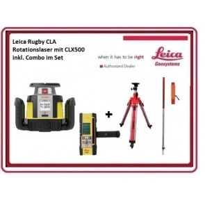 Leica Rugby CLA Rotationslaser mit CLX250 inkl. Combo im Set
