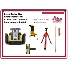 Leica Rugby CLA Rotationslaser mit CLX550 inkl. Combo & SmartAdapter im Set