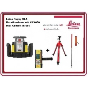 Leica Rugby CLA Rotationslaser mit CLX600 inkl. Combo im Set