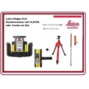 Leica Rugby CLA Rotationslaser mit CLX700 inkl. Combo im Set