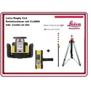 Leica Rugby CLA Rotationslaser mit CLX800 inkl. Combo im Set