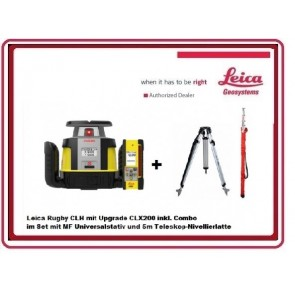 Leica Rugby CLH Rotationslaser mit CLX200 inkl. Combo im Set