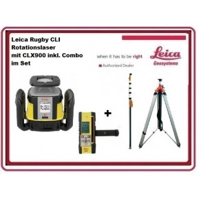 Leica Rugby CLI Rotationslaser mit CLX900 inkl. Combo im Set