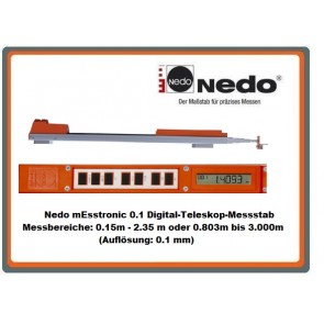 Nedo mEsstronic 0.1 Digital-Teleskop-Massstab