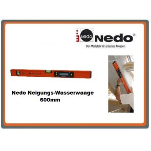 Nedo Neigungs-Wasserwaage 600mm