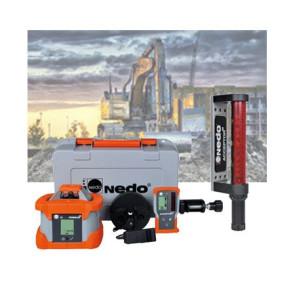 Nedo PRIMUS 2 H Rotationslaser-Maschinen-Empfänger-Set