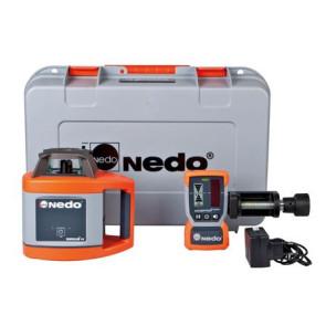 Nedo SIRIUS 1 H Rotationslaser mit ACCEPTOR 2 Digital mit HD-Klammer