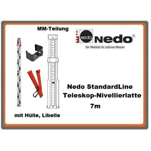 Nedo StandardLine Teleskop-Nivellierlatte 7m
