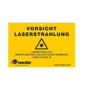 """Nedo Warnschild """"Laserklasse 3R"""""""