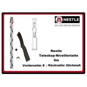 Nestle Teleskop-Nivellierlatte 5m mit E-/Stichmass-Teilung