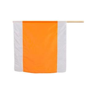 Nestle Warn-Flagge 75x75 weiß-orange-weiß