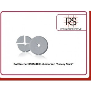 "Rothbucher RSKM40 Klebemarken ""Survey Mark"""