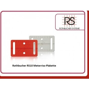 Rothbucher RS10 Meterriss-Plakette