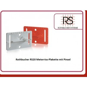 Rothbucher RS20 Meterriss-Plakette mit Pinsel