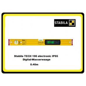 Stabila TECH 196 electronic IP65 Digital-Wasserwaage 0.40m
