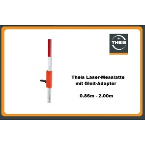 Theis Laser-Messlatte mit Gleit-Adapter 0.86m - 2.00m